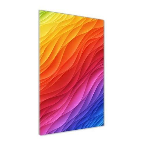 Foto obraz akrylowy do salonu Kolorowe fale