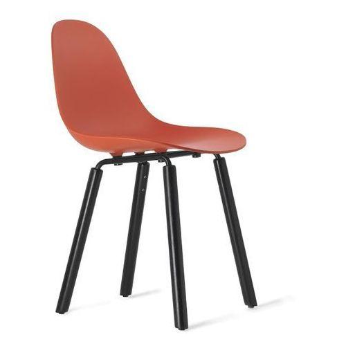 Kubikoff :: krzesło ta czerwone (podstawa dębowa)