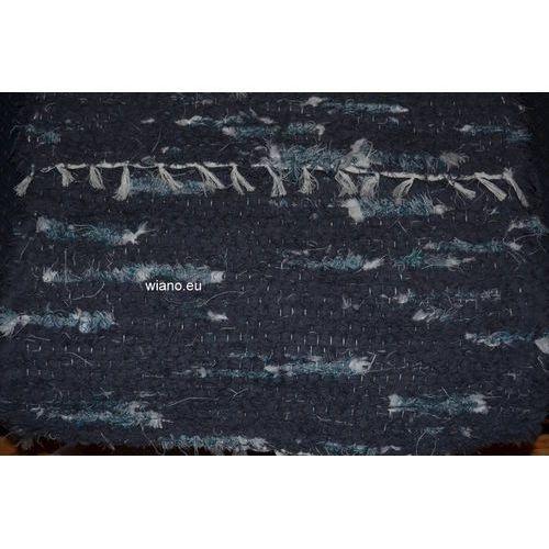 Chodnik bawełniany ręcznie tkany szary z ecru i zielonym 50x100