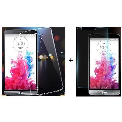 Ultra slim / perfect glass Zestaw szkło ochronne perfect glass + obudowa ultra slim przezroczysta lg g3 s