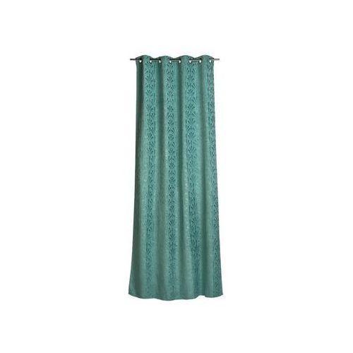 Zasłona gotowa PABLO kolor Zielony 140 x 280 cm Kółka 360 g/m² INSPIRE