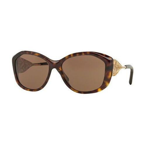 Okulary Słoneczne Burberry BE4208QF Gabardine Lace Asian Fit 300273, kolor żółty