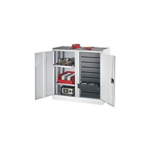 Szafy na narzędzia i szafy dostawne,9 szuflad, 2 półki, 1 środkowa ścianka działowa