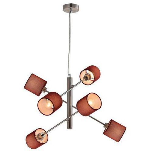 Candellux Sax 36-70722 lampa wisząca zwis 6x40W E14 satyna, kolor Srebrny