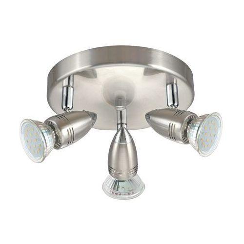 Plafon Eglo Magnum 95824 lampa sufitowa spot 3x3W GU10 LED nikiel mat / chrom