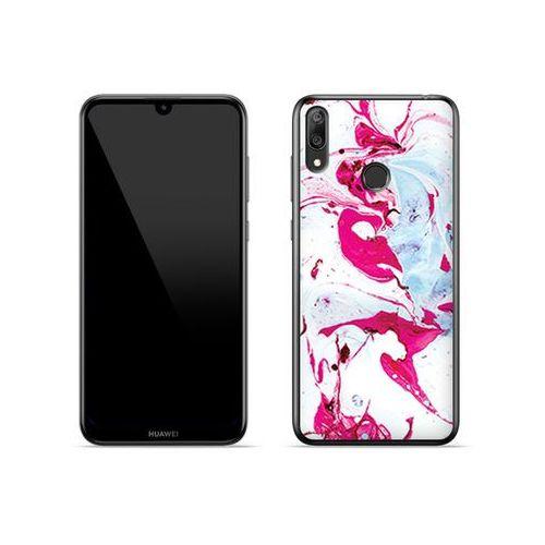 Huawei y7 prime (2019) - etui na telefon fantastic case - różowy marmur marki Etuo fantastic case