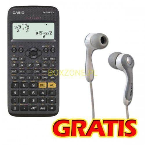 Casio Kalkulator , fx 350 ce x, czarna, szkolny, + gratis słuchawki maxell (4549526602030)