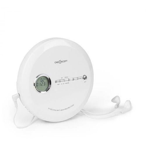 OneConcept CDC 100MP3 Discman Odtwarzacz CD ESP Micro-USB, biały (4260509681438)