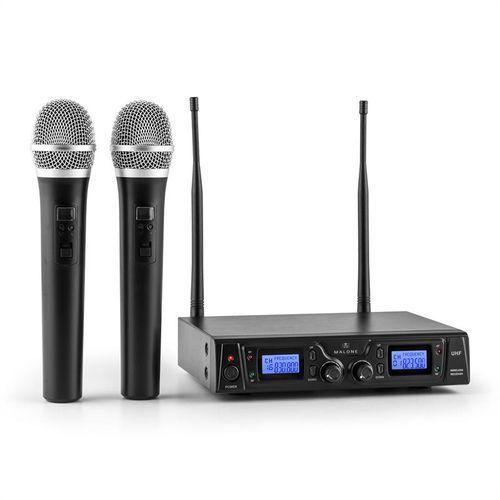 duett pro v1 2-kanałowy bezprzewodowy zestaw mikrofonowy uhf zasięg 50m marki Malone