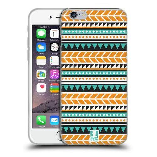 Etui silikonowe na telefon - Aztec Patterns ORANGE AND GREEN