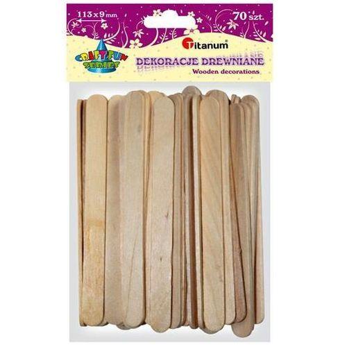 Patyczki dekoracyjne drewniane 70 sztuk, CRAFT-FUN - naturalne (5907437666371)