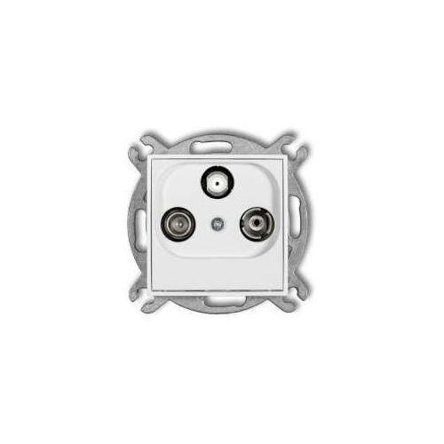Karlik Gniazdo rtv-sat mini mgsp przelotowe 10db biały