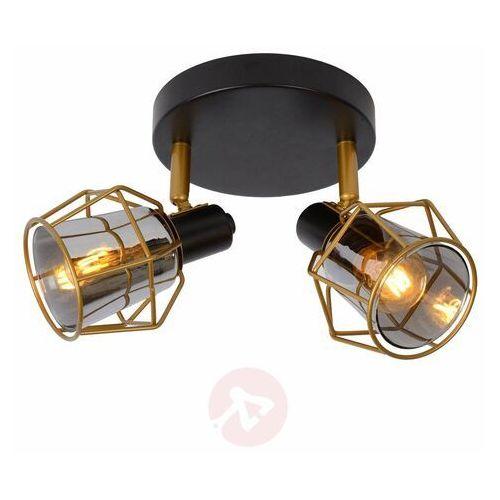 Lucide Nila 77977/12/30 Plafon lampa sufitowa 2x25W E14 Czarny/Szary, 77977/12/30