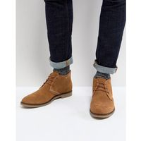 perforated desert boots in tan suede - tan, Dune