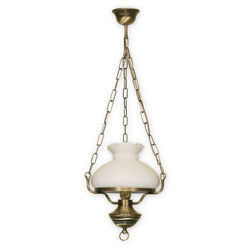 Lampa wisząca zwis Lemir Alladyn 1x60W E27 patyna 012/W1, kolor Biały