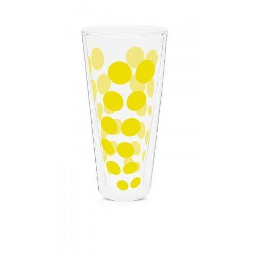 Szklanka wysoka z podwójną ścianką 350 ml żółta Zak! Design