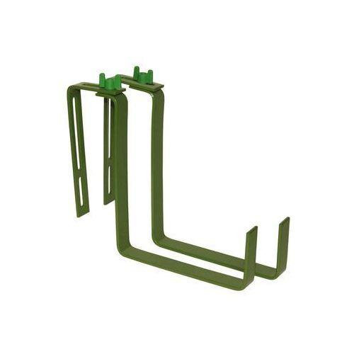 Uchwyt do skrzynek balkonowych zielony marki Greenmill
