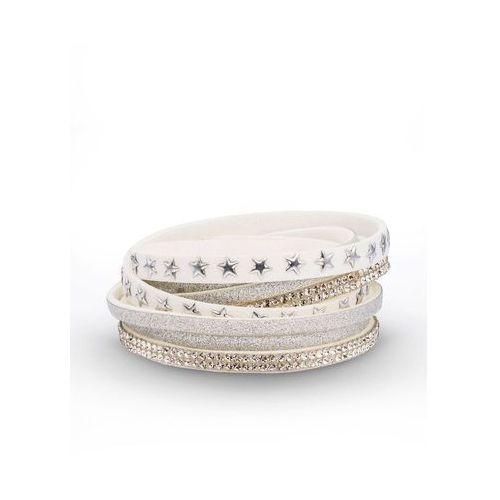 Bonprix Bransoletka zawijana na ręce w gwiazdy biały