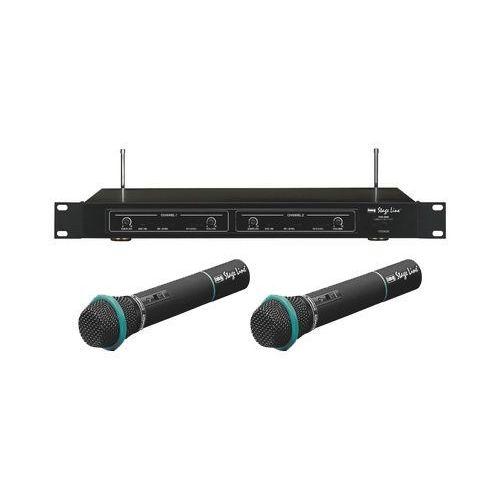 Podwójny mikrofon bezprzewodowy - odbiornik + dwa mikrofony doręczne txs-860 / txs-821ht / txs-822ht marki Monacor