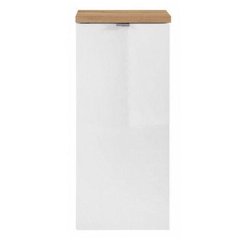 Półsłupek łazienkowy z koszem na pranie - Malta 4X Biały połysk, kolor biały