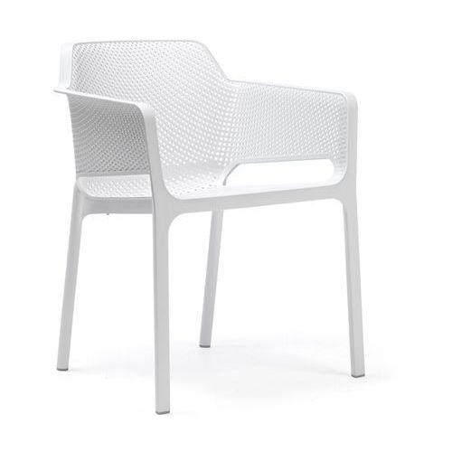 Krzesło Net białe, kolor biały