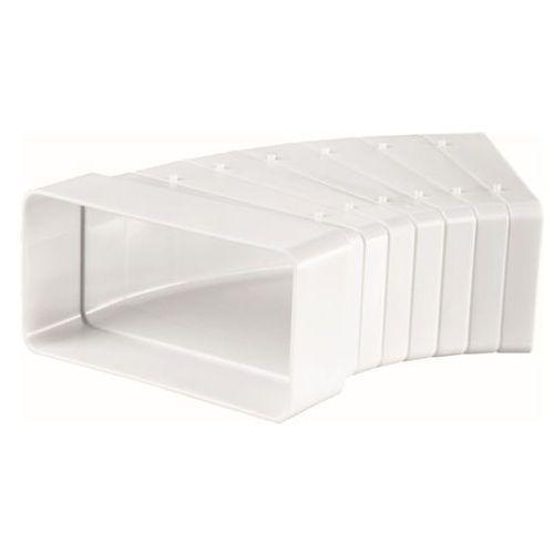 Kolanko poziome wielokątne Vents 204 x 60 mm białe, 545