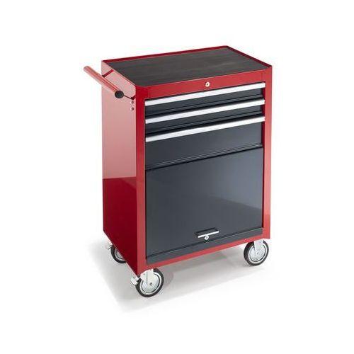 Wózek warsztatowy,wys. x szer. x głęb. 995 x 680 x 458 mm, 3 szuflady, 1 półka na narzędzia marki Unbekannt