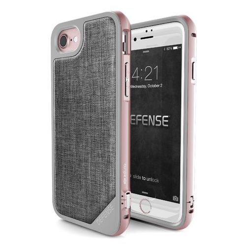 X-Doria Defense Lux - Aluminiowe etui iPhone 7 (Rose Gold/Grey), 449359
