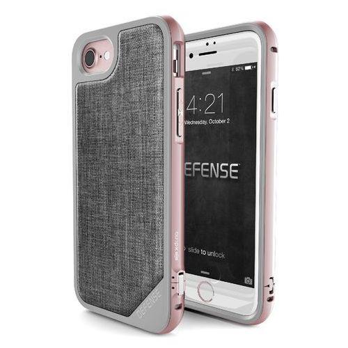 X-Doria Defense Lux - Aluminiowe etui iPhone 7 (Rose Gold/Grey), kolor szary