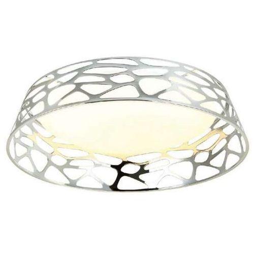 Orlicki design Plafon lampa sufitowa forina cromo pl natynkowa oprawa okrągła led 48w z wycięciami chrom (1000000470710)