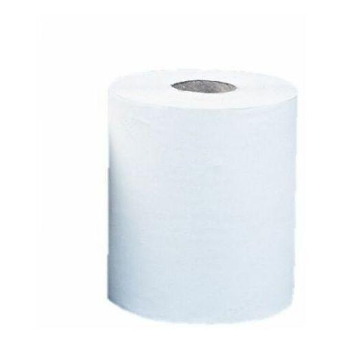Ręcznik papierowy top maxi, śr. 19 cm, dł. 156 m, dwuwarstwowy, biały, zgrzewka 6 szt. marki Merida