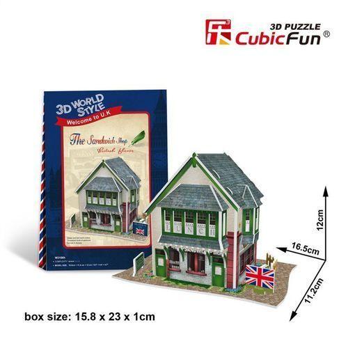 Cubicfun Puzzle 3d domki świata wielka brytania