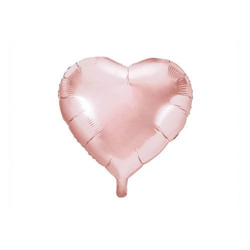 Balon foliowy Serce złoty róż - 61 cm - 1 szt.