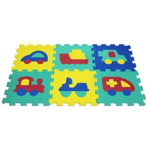 Puzzle piankowe 6 elementów Pojazdy