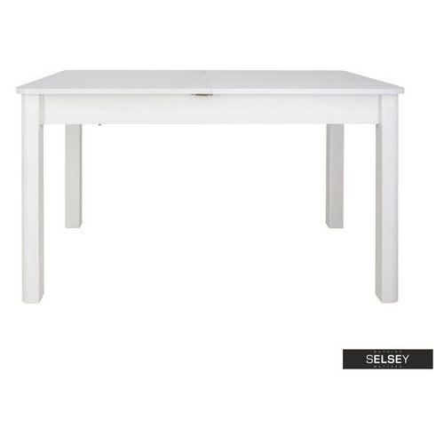Selsey stół rozkładany eagor 125-165x80 cm zaokrąglonymi rogami biel alpejska (5903025385761)