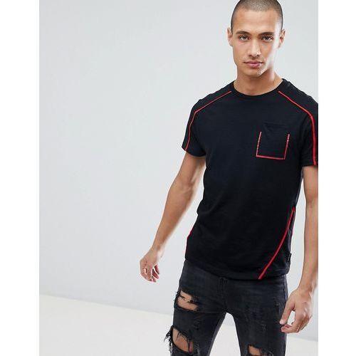 D-Struct Contrast Taping Pocket T-Shirt - Black