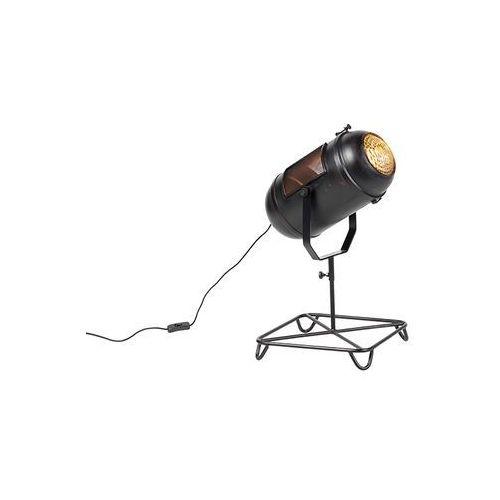 Lampa stołowa vintage filmowy reflektor antyczna czerń - blake marki Qazqa