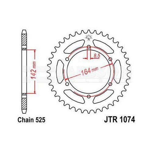 Zębatka tylna stalowa JT 1074-44, 44Z, rozmiar 525 2301983 Hyosung GT 650