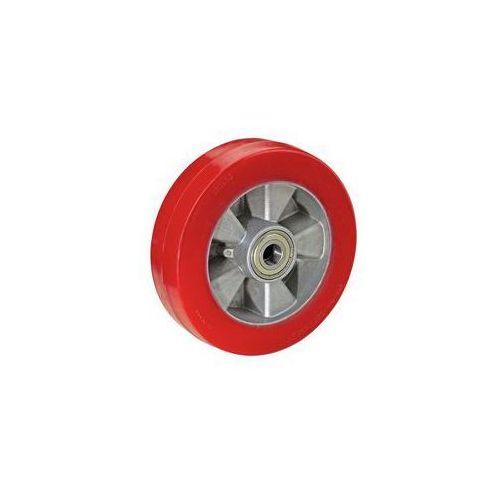 Ogumienie z poliuretanu, czerwone, na feldze aluminiowej,łożysko kulkowe marki Wicke