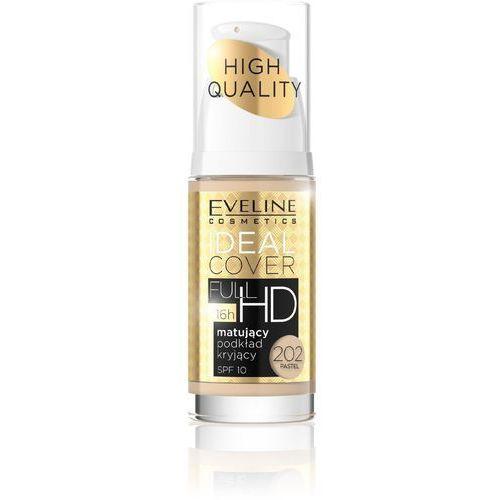 Eveline High quality ideal cover full hd matujący podkład kryjący spf10 202 pastel 30ml