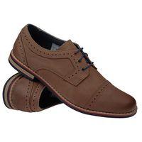 Półbuty sznurowane buty KRISBUT 4607-2-1 - Beżowy ||Brązowy, kolor brązowy