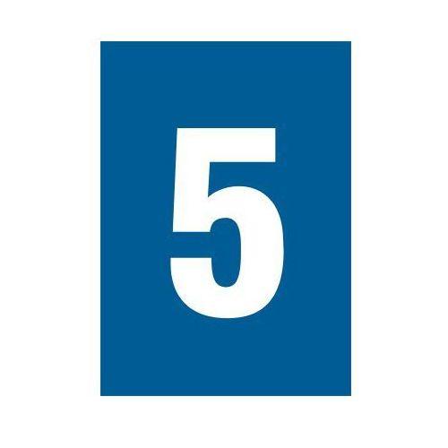 OKAZJA - Cyfra 5 (biały/niebieski), marki Top design