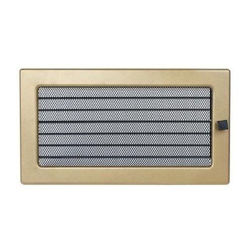 kratka kominkowa prostokątna złoto galwaniczne z żaluzją 170x300 mm marki Kratki