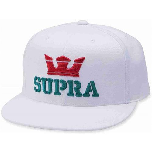 czapka z daszkiem SUPRA - Above Snap Back Hat White-Red-Tea (127), kolor czerwony