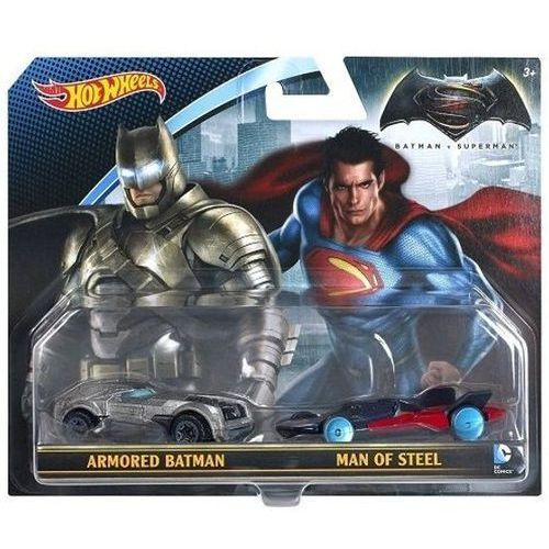 Hot wheels Figurki  dwupak, batman & superman