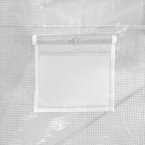 VidaXL Szklarnia ogrodowa, stalowa konstrukcja, 13,5m², 450x300x200cm (8719883609201)