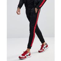 skinny track joggers with side stripes - black marki Good for nothing