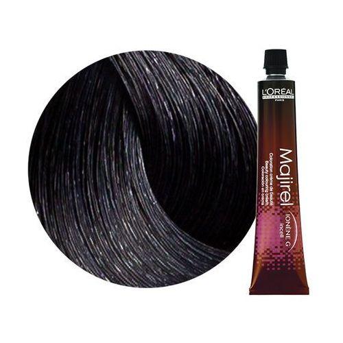 Loreal Majirel | Trwała farba do włosów - kolor 2.10 bardzo ciemny brąz popielaty intensywny 50ml (3474634001837)