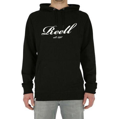 bluza REELL - Big Logo Hoodie Deep Black (120) rozmiar: XL, kolor czarny