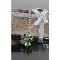 Naszyjnik koniczynka | biżuteria czterolistna zielona koniczynka